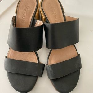 Madewell block hell black leather sandals